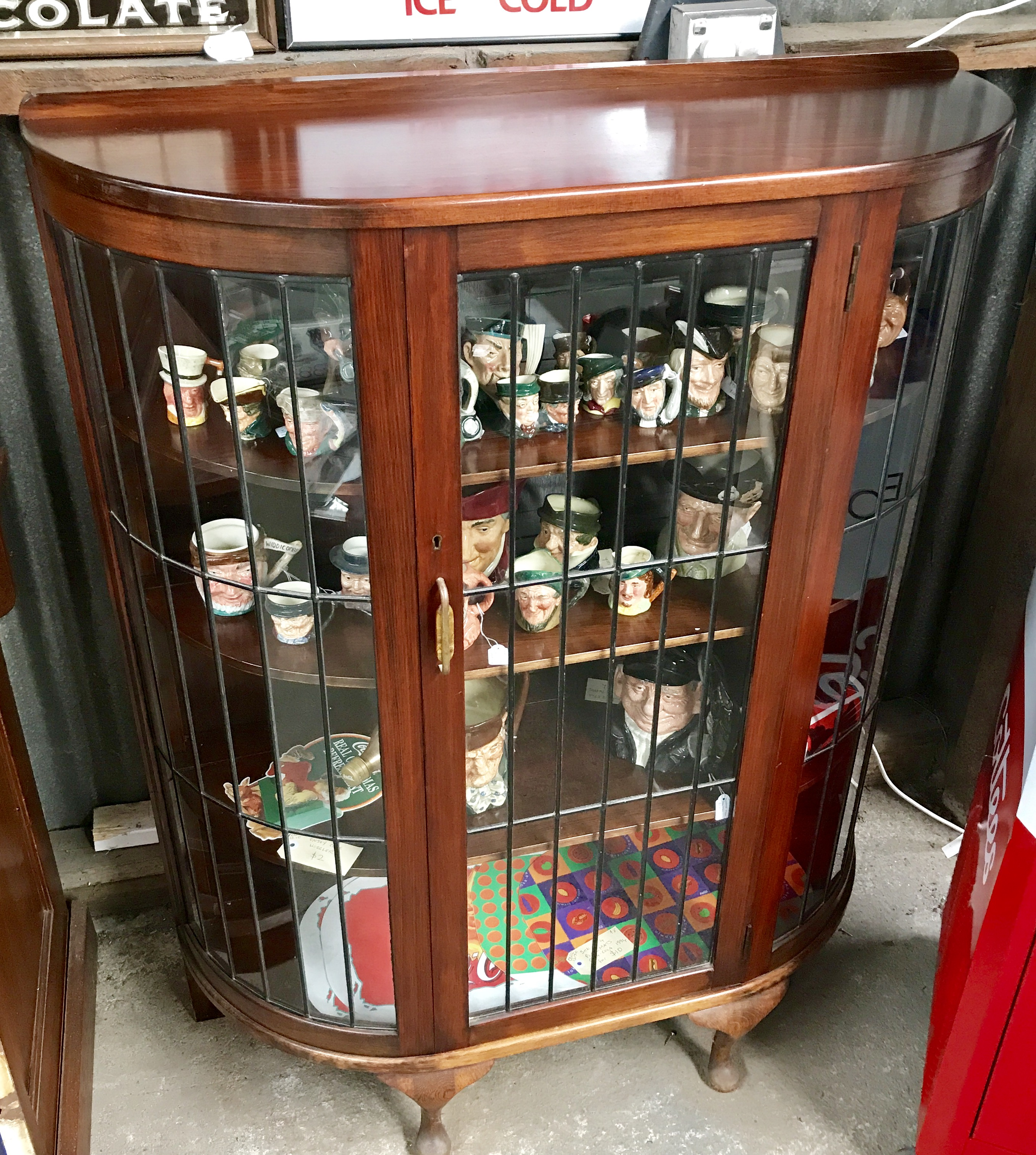 Half Round Leadlight Cabinet Old Sunken Vessel